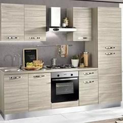 Hood Kitchen Rv Table Dafnedesign Com Cucina Completa Lato Dx Cm 255 X 60 216h 完整的廚房 右側厘米 包括 引擎蓋 風扇烤箱 水槽 冰箱 帶4爐灶的燃氣灶具 N 6鉸鏈門和抽屜