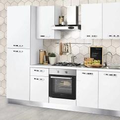 Hood Kitchen Reviews Dafnedesign Com 完整的廚房 左側厘米 255 X 60 216h 包括 引擎 引擎蓋 風扇烤箱 水槽 冰箱 帶4爐灶的燃氣灶具 N 6鉸鏈門和抽屜