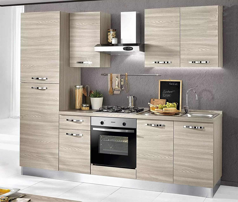 kitchen aid products wall tiles dafnedesign com 完整的厨房 左版cm 255 x 60 216h 包括 引擎盖 罩 对流烘箱 水槽 冰箱 冰柜 气体滚刀4炉 n 6铰接门和抽屉