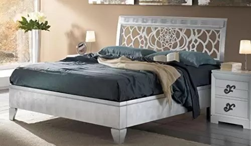 silver kitchen aid shabby chic stools dafnedesign com 雙人床與床頭板 銀色 有光澤的白色柵格 h x p 120 220 194 l x為網絡180 200 60公斤 0 4了mc 立方米 正 4包
