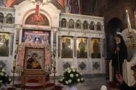 24.11.2014 : Υποδοχή της Ιεράς Εικόνας της Παναγίας της Φοβεράς Προστασίας (Πηγή agiabarbaradafnis.gr)