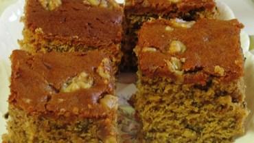 עוגה עשירה מטחינה, סילאן ואגוזים