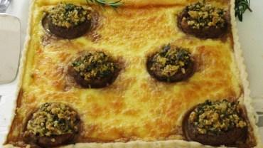 קיש גבינות ופטריות ממולאות