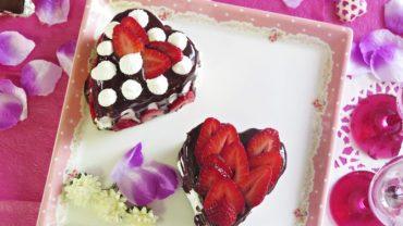 לבבות שוקולד קצפת ותותים