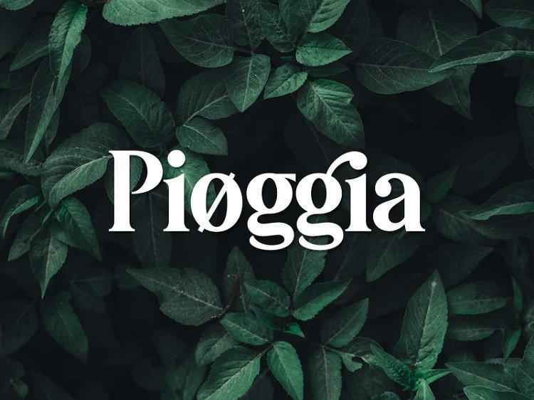 Pioggia Modern Serif Font