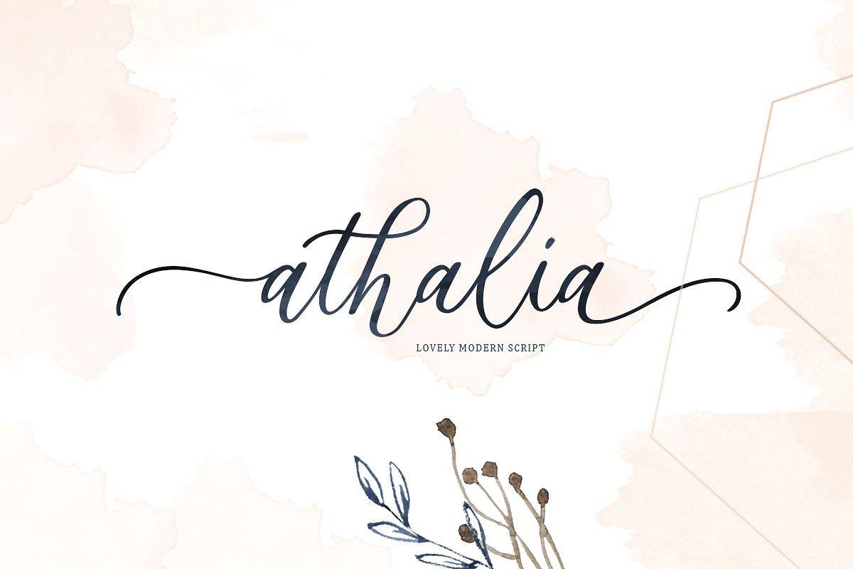 athalia-script-font