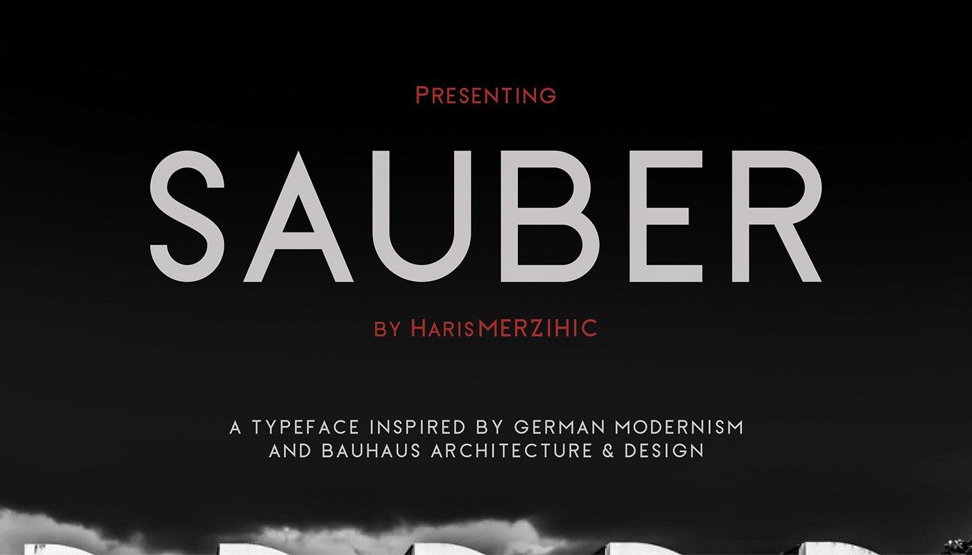 sauber-typeface