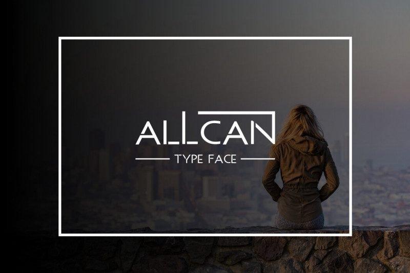 ALLCAN Typeface Free