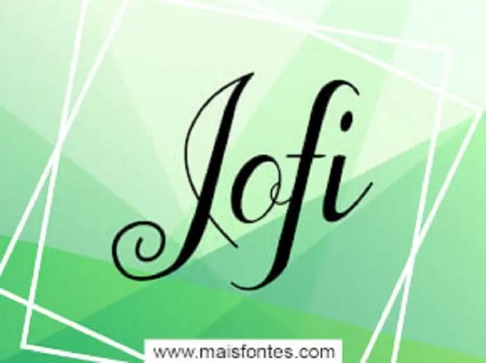 Jofi Script Font Free1