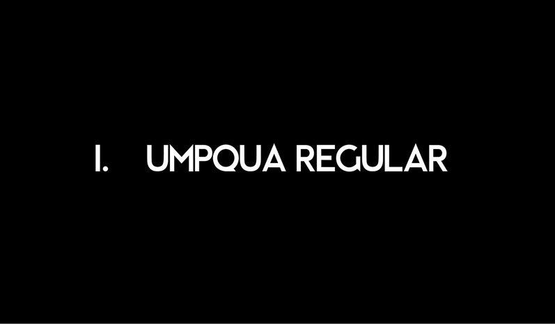 Umpqua Typeface Free