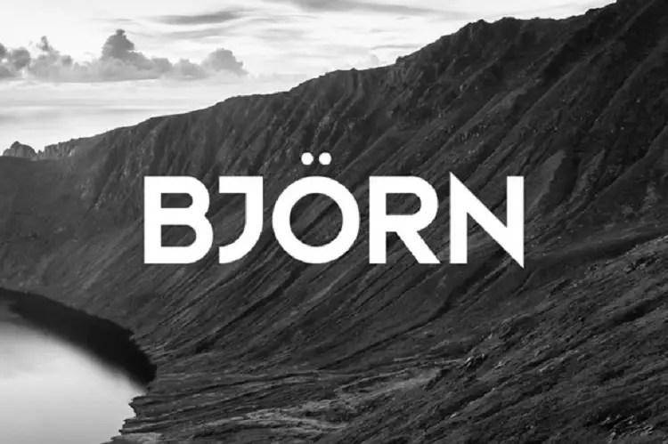 bjorn-typeface