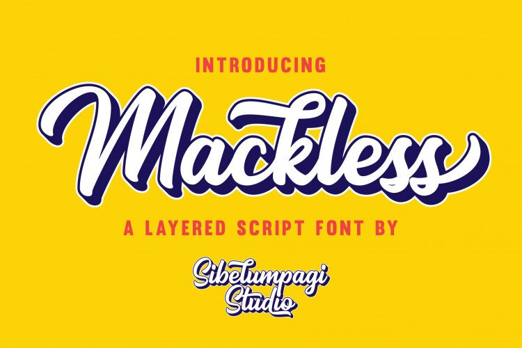 mackless-script-font