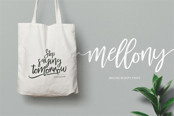 mellony-brush-font