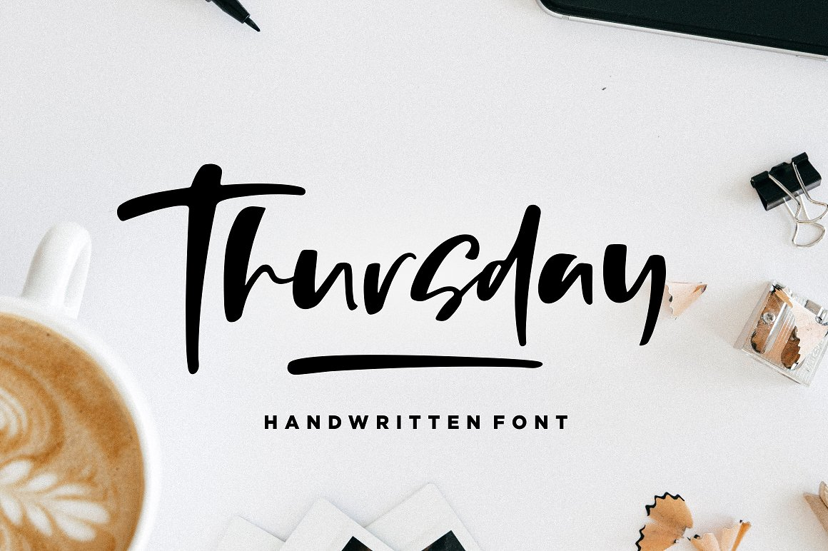 thursday-vibes-brush-font