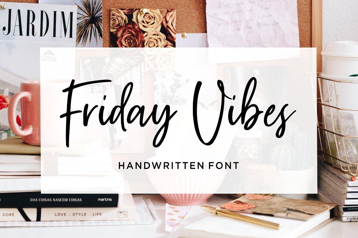 friday-vibes-handwritten-font