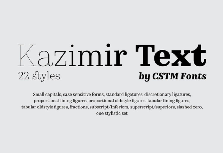 kazimir-text-font-family