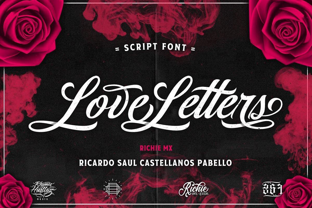 love-letters-script-font