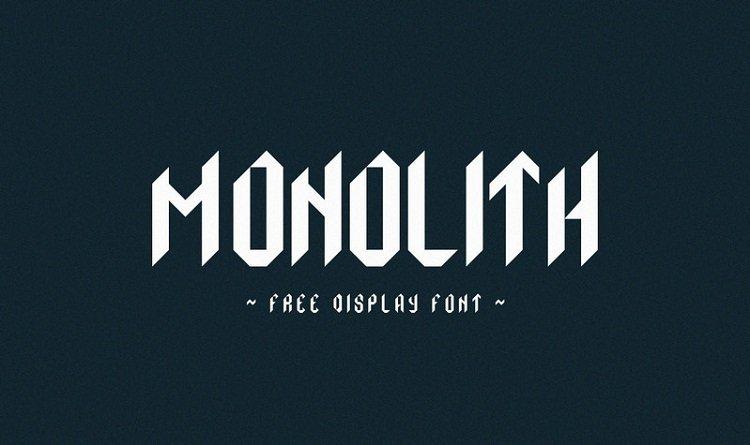 monolith-typeface