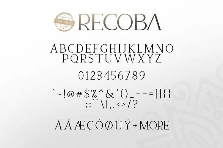 recoba-font-family-1