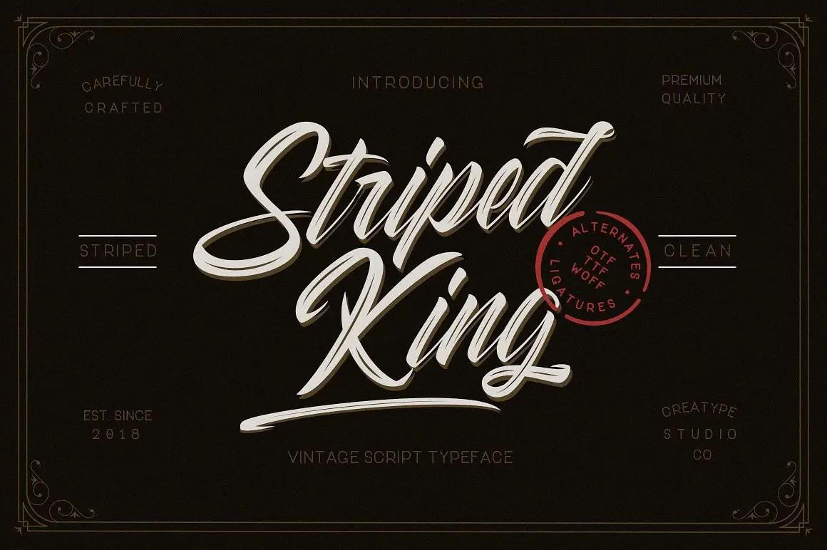 striped-king-script-font