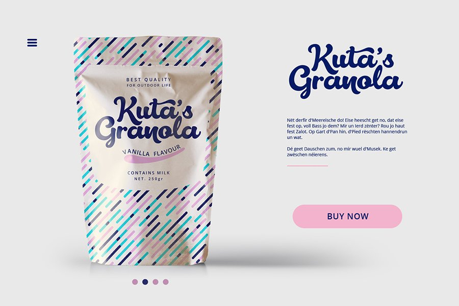Lactosa script font mockup product packaging on web