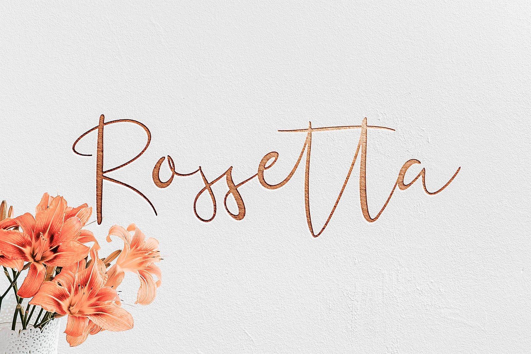 rossetta-script-font