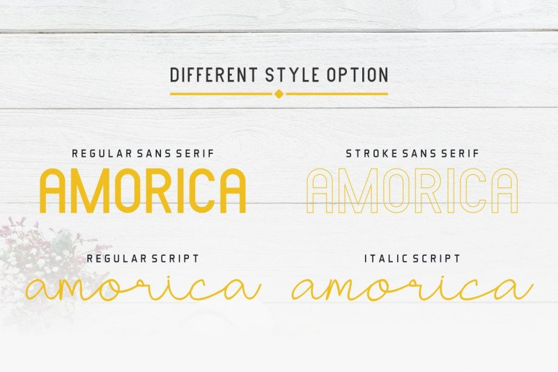 AMORICA Font Duo 2