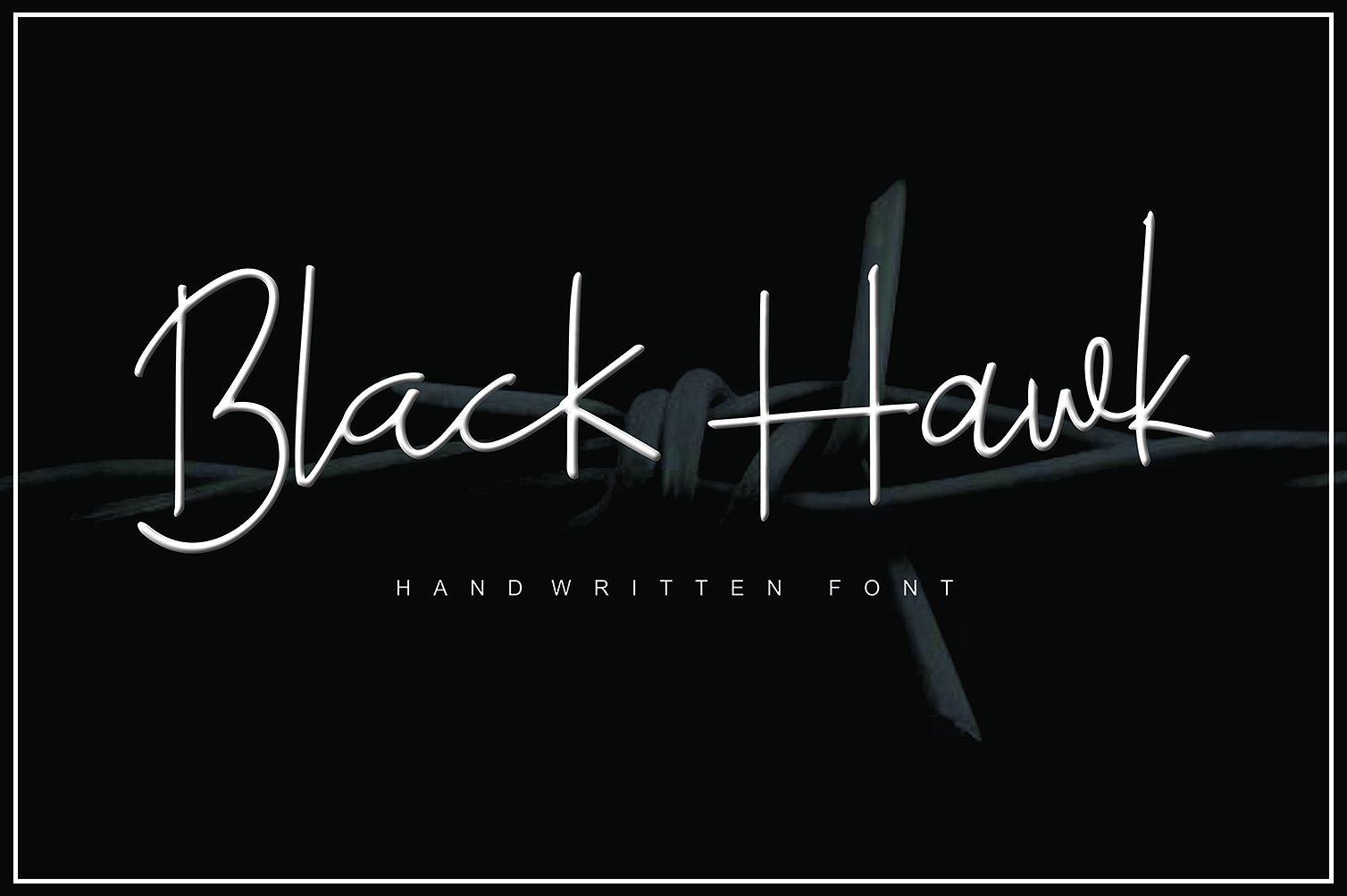 black-hawk-script-font
