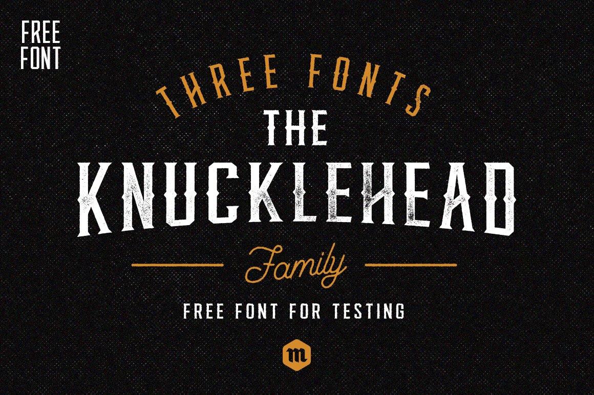 knucklehead-typeface