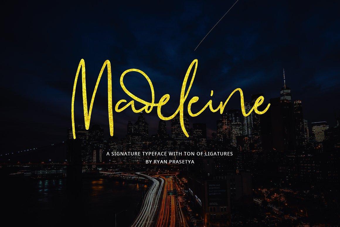madeleine-signature-font
