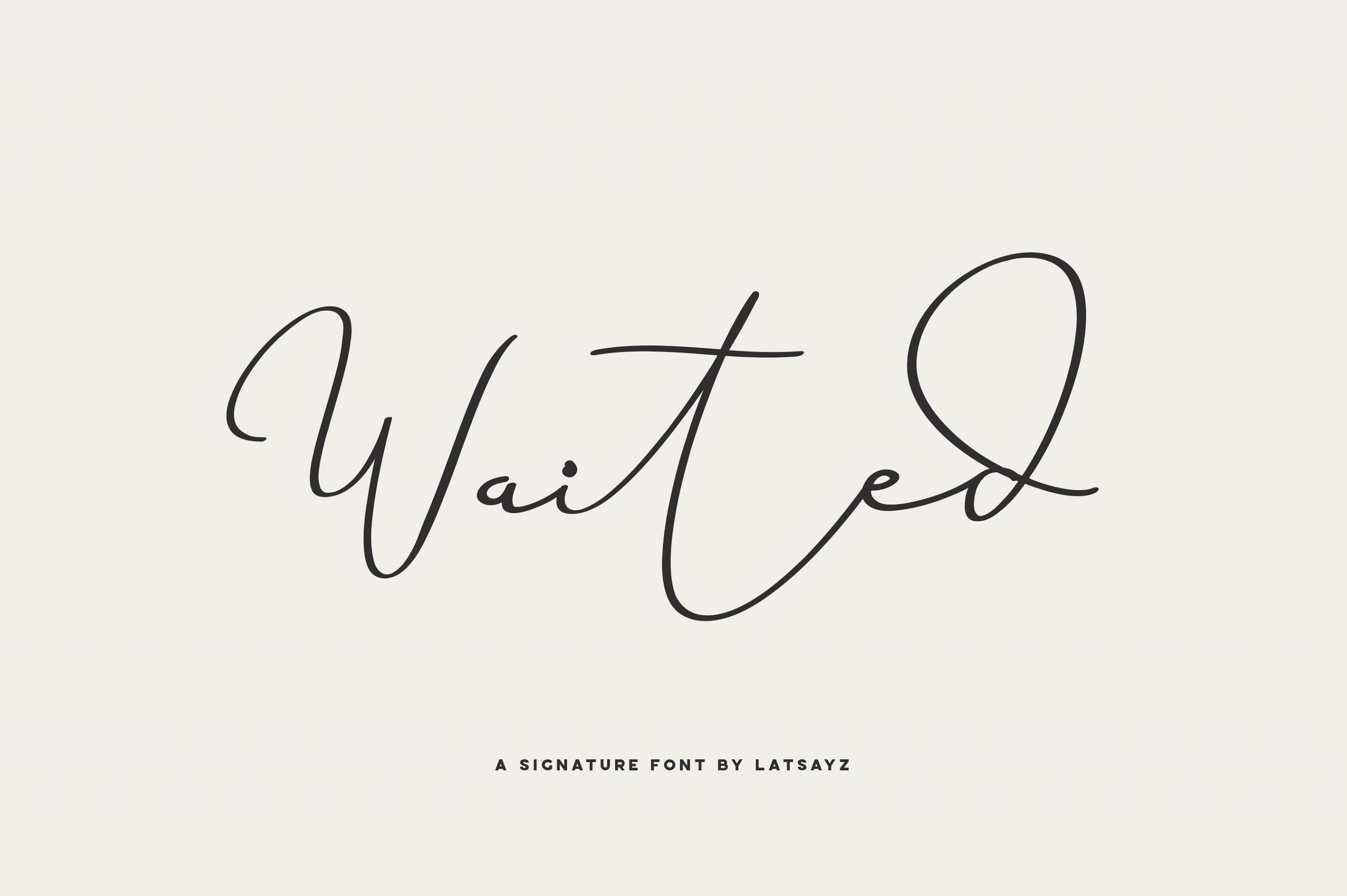 miss-waited-signature-font