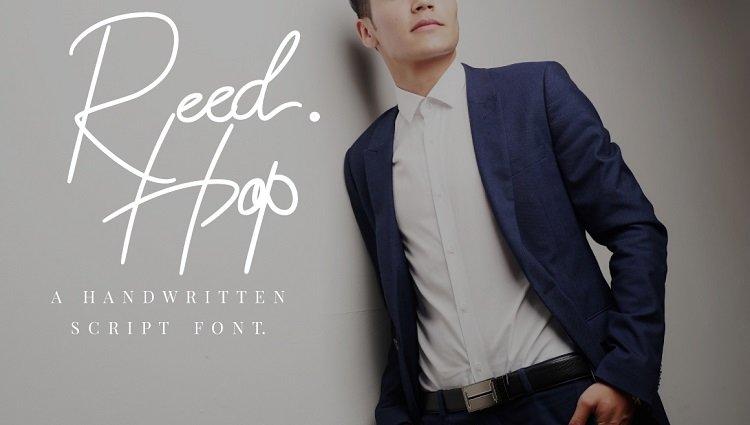 reed-hop-handwriting-font