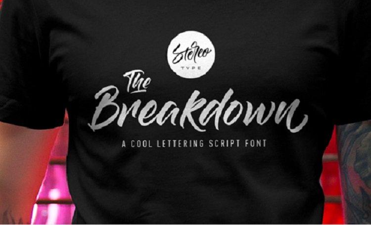 the-breakdown-script-font 0
