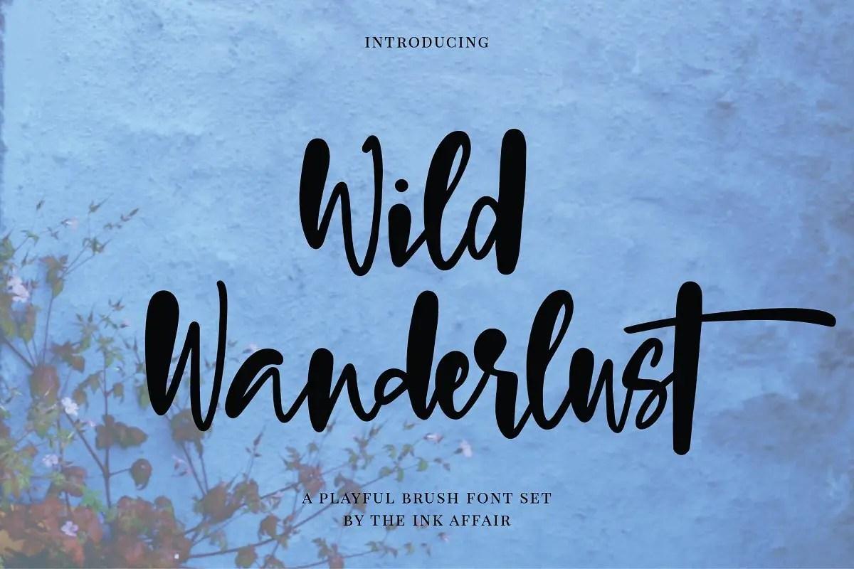 wild-wanderlust-brush-font
