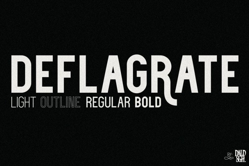 deflagrate-font-family