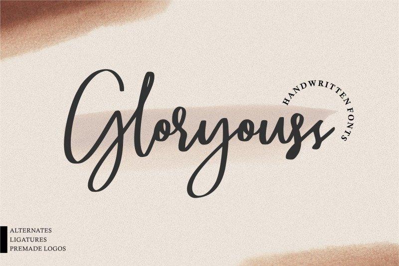 gloryouss-script-font