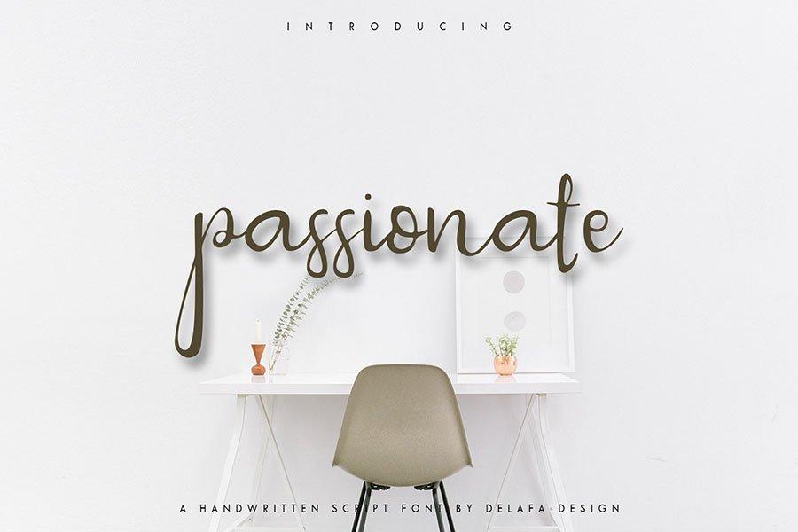 passionate-script-font