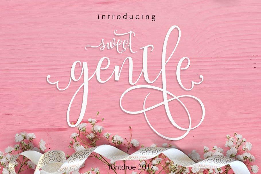 sweetgentle-script-font