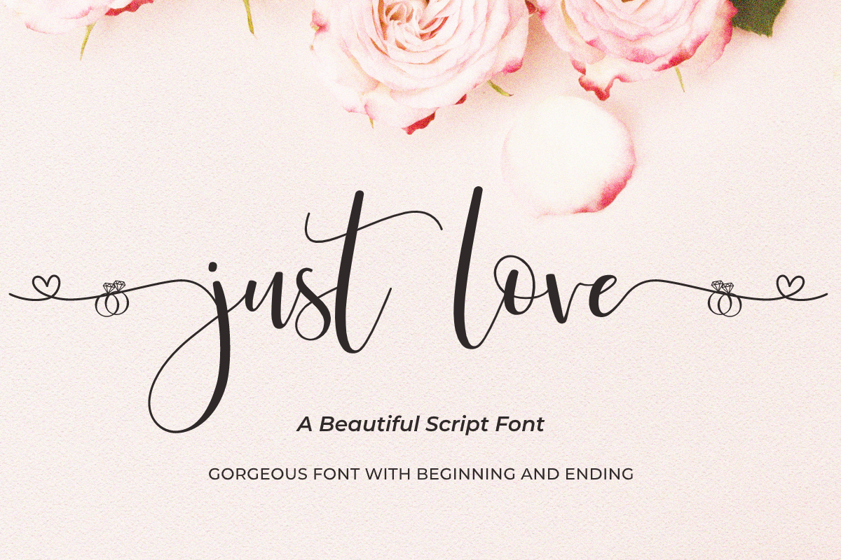 Just Love Calligraphy Script Font01
