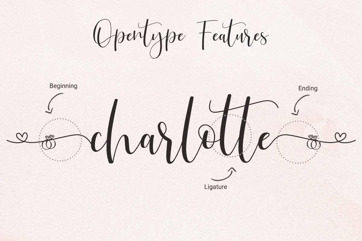 Just Love Calligraphy Script Font02