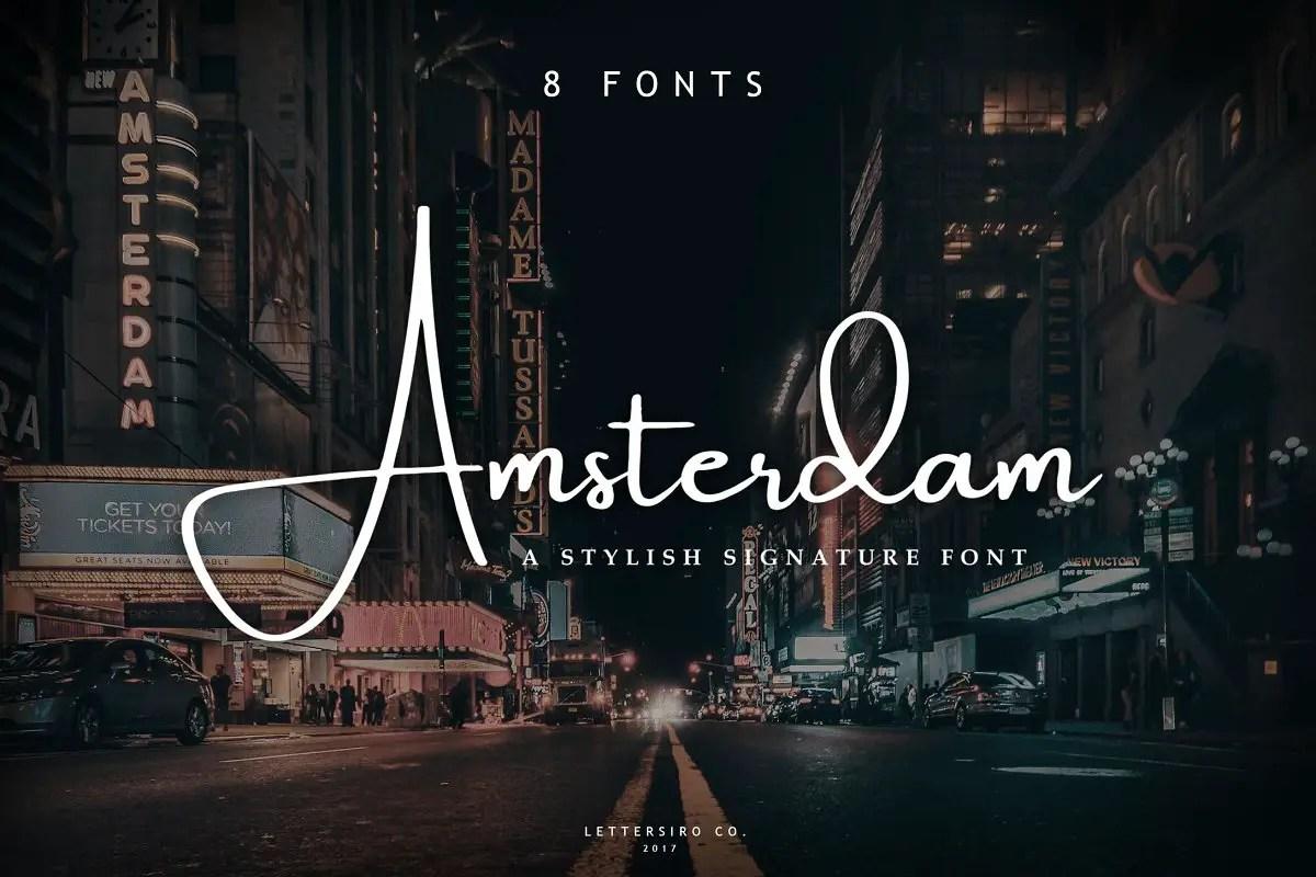 Amsterdam Elegant Font