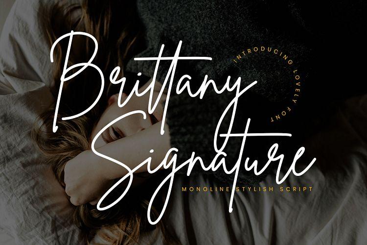 brittany-signature-font