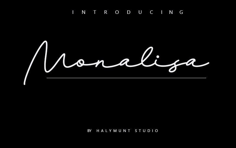 monalisa-handwritten-font