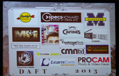 Film Festival Sponsorship Acknowledgement