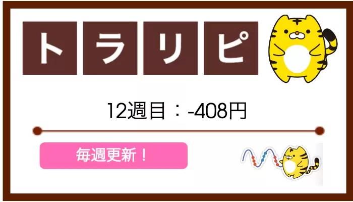 traprepertresult - 【トラリピ】12週目:運用実績は-408円【不労所得ゲットならず】