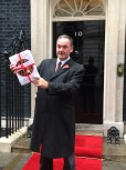 Jon Cruddas presents prison petition @ Downing Street