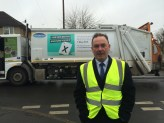 Jon Cruddas MP out on the dust carts