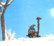 Khael Stonekindle Reaper Miniatures Christmas Seasons Greetings Snow Terrain