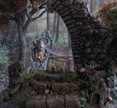 daggerandbrush, dagger and brush, daggerbrush, Wargaming, terrain, tutorial, forest, graveyard, ruins, Ghost King, Anirion Wood Elf Wizard, Reaper Miniatures, flagstone, basing, well of chaos