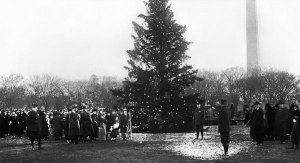 Photo credit to National Tree website. 1923 Lighting of the Christmas Tree.